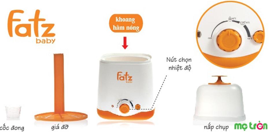 Máy hâm sữa FB3011SL được làm từ vật liệu không BPA an toàn cho bé