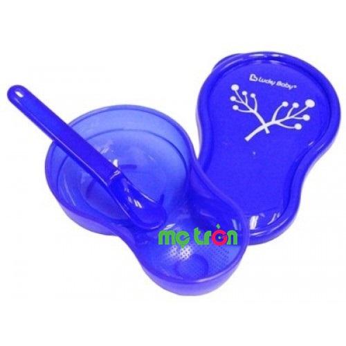 Chén muỗng bằng nhựa Lucky Baby 506141 siêu đáng yêu