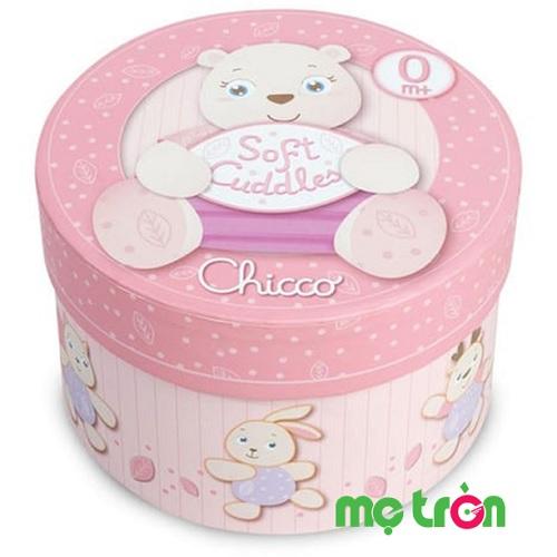Hộp quà sơ sinh chú gấu hồng Chicco