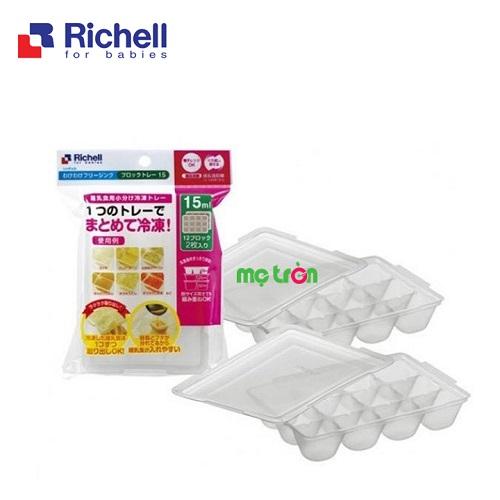 Khay trữ đông thức ăn 2 chiếc Richell (3 kích cỡ 15ml, 25ml, 50ml)
