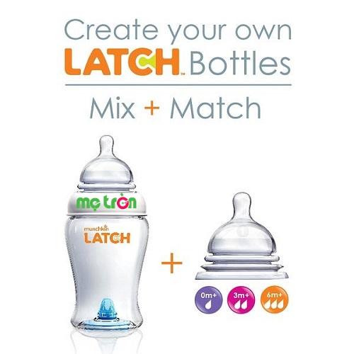 Núm ti Munchkin Latch số 1 (0+m) chất liệu an toàn