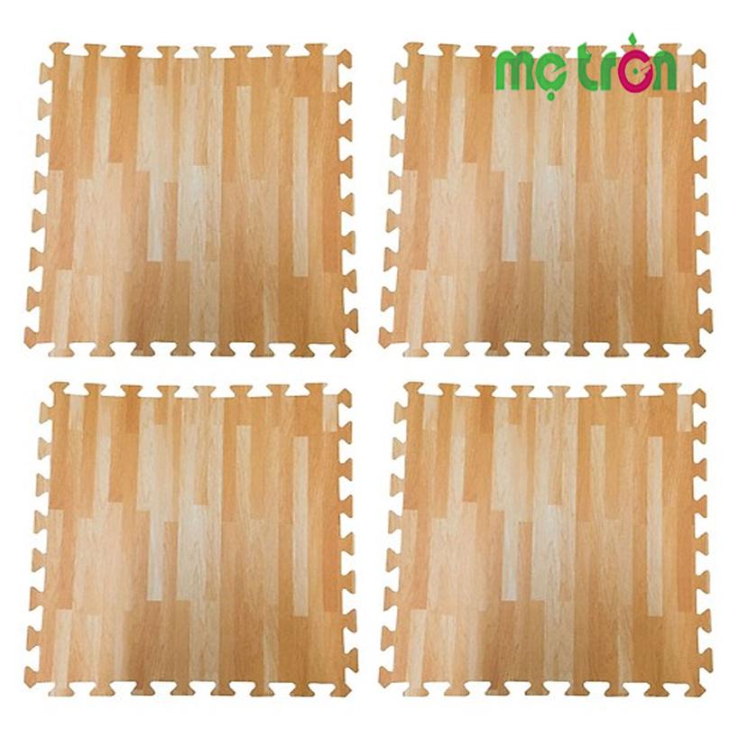 Thảm xốp lót sàn vân gỗ bộ 4 tấm- Chống thấm nước