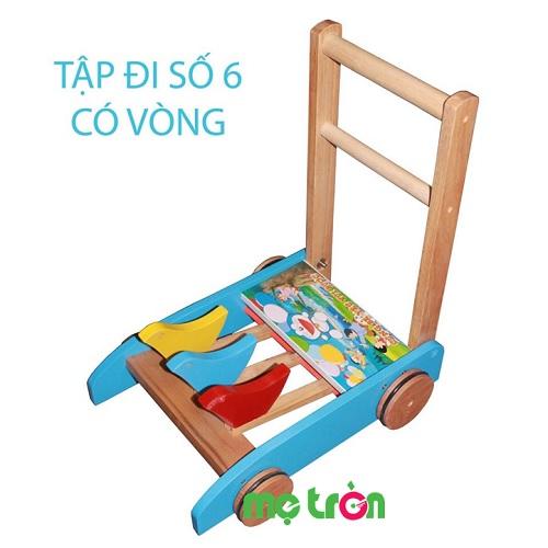 Xe tập đi bằng gỗ có vòng Số 6 Song Son đáng yêu cho bé