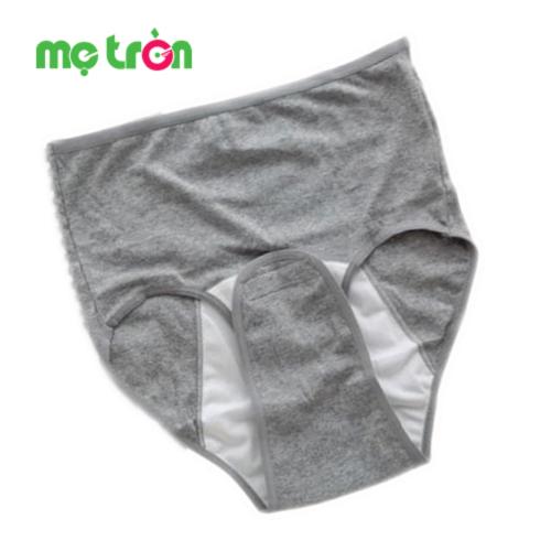 Quần lót sau sinh Lamom là sản phẩm thuộc thương hiệu của Việt Nam được thiết kế tiện lợi với lớp đáy cài băng dính, dễ dàng cho các mẹ khi thay băng vệ sinh mà không cần cởi quần, đặc biệt giảm đau cho những người có vết khâu ở tầng sinh môn và vết thương để lại do sinh thường hay cả sinh mổ.