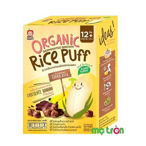 Bánh mầm gạo Apple Monkey vị chuối & chocolate là sản phẩm hữu cơ (organic) được sản xuất từ những hạt gạo lức nảy mầm trồng theo phương pháp organic để cung cấp chất Gaba giúp bé ăn ngon hơn, hấp thụ dinh dưỡng tốt hơn, ngủ ngoan hơn và hình thành hệ tiêu hóa khỏe mạnh hơn.