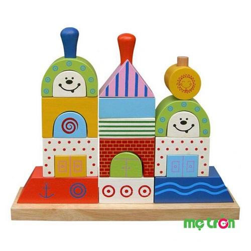 Xếp hình thuyền Winwin Toys  gồm 19 khối gỗ cónhiều hình dáng khác nhau, với màu sắc nổi bật cho bé có thêm hứng thú khi chơi. Sản phẩm giúp cho bé làm quen môn hình học như các hình tròn, chữ nhật, vuông, tam giác.