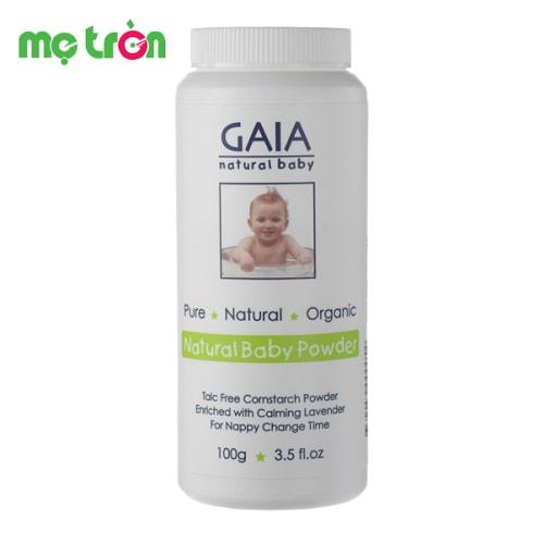 Phấn rôm hữu cơ Gaia Powder Baby 100g được chế tạo từ bột bắp và tinh dầu hữu cơ giúp thân thiện với làn da, sản phẩm vừa có tác dụng làm mềm, nuôi dưỡng làn da vừa hút ẩm ở các nếp gấp trên da từ đó giữ cho da bé khô thoáng, sạch mát và hạn chế vi khuẩn phát sinh, xâm nhập.