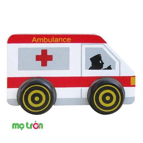 Xe cứu thương gỗ WinwinToys 64282 là đồ chơi cao cấp dành cho bé từ 1 tuổi trở lên. Sản phẩm thiết kế mô phỏng theo hình dáng chiếc xe cứu thương sinh động với màu trắng đỏ bắt mắt, được làm từ gỗ tự nhiên an toàn, cho trẻ thỏa sức sáng tạo và thúc đẩy trí tư duy tưởng tượng ngay từ sớm.