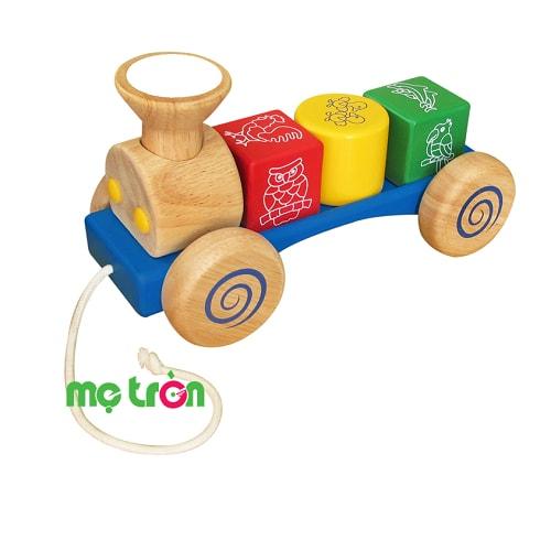 Xe lửa nhỏ bằng gỗ Winwin Toys là trò chơi 2 trong 1 kết hợp giúp bé phát huy vận động cơ thể khi thực hiện động tác di chuyển đoàn tàu và tập làm quen với việc phân biệt màu sắc, các khối hình học cơ bản. Hơn nữa, đồ chơi được làm từ chất liệu gỗ mịn, sơn màu an toàn bảo vệ sức khỏe của trẻ khi chơi nên bố mẹ có thể hoàn toàn yên tâm khi chọn lựa cho bé.
