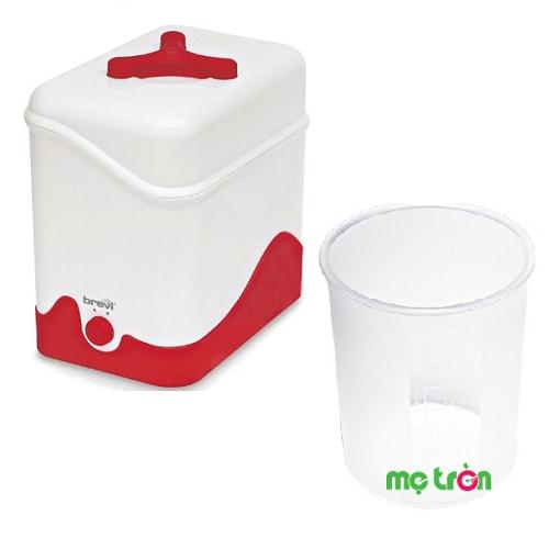 Máy tiệt trùng bình sữa Brevi Vivalapappa Bre351 Italy Italy được chế tạo từ chất liệu đảm bảo an toàn tuyệt đối cho sức khỏe của bé yêu. Thiết kế máy với khả năng tiệt trùng cùng lúc đến 7 bình sữa cùng lúc trong khoảng thời gian nhanh chóng từ 6 đến 8 phút.