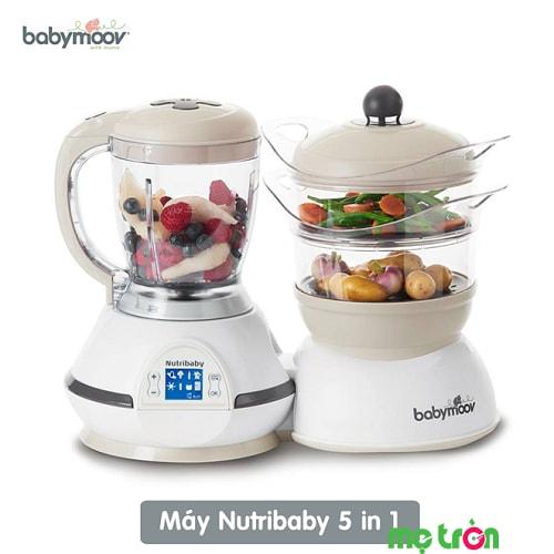 Máy hâm nóng, tiệt trùng và xay hấp thức ăn Nutribaby 5 trong 1 từ Pháp
