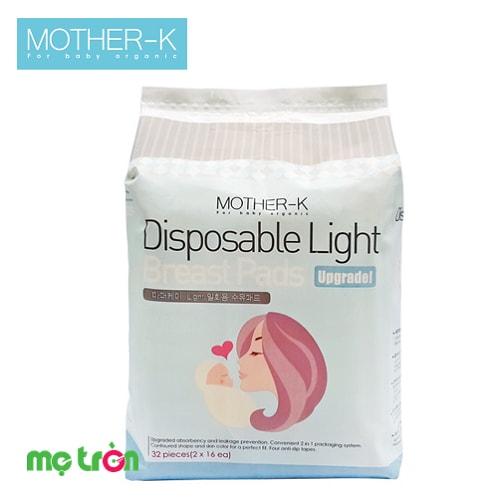"""<p style=""""text-align: justify;""""><strong>Miếng lót thấm sữa Mother-K Hàn Quốc</strong> với phần lõi polymer và thiết kế theo hình dáng của chiếc yếm giúp mẹ giữ cho ngực luôn sạch sẽ, khô thoáng để tự tin hơn khi đi ra ngoài.</p>"""