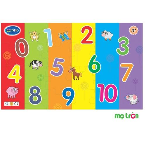 Đồ chơi Bé học số vui Winwin Toys là sản phẩm được làm từ gỗ và các chất liệu mực in an toàn sẽ giúp các bé yêu sớm làm quen với các kiến thức về số đếm, chữ viết và cả hình khối. Với bộ đồ chơi này sẽ giúp bé học được các chữ số căn bản từ 0 đến 10 và khám phá, gọi tên các con vật được vẽ trong bức tranh để tìm ra miếng ghép phù hợp và tạo thành bức tranh hoàn chỉnh, nhận dạng hình ảnh minh họa.