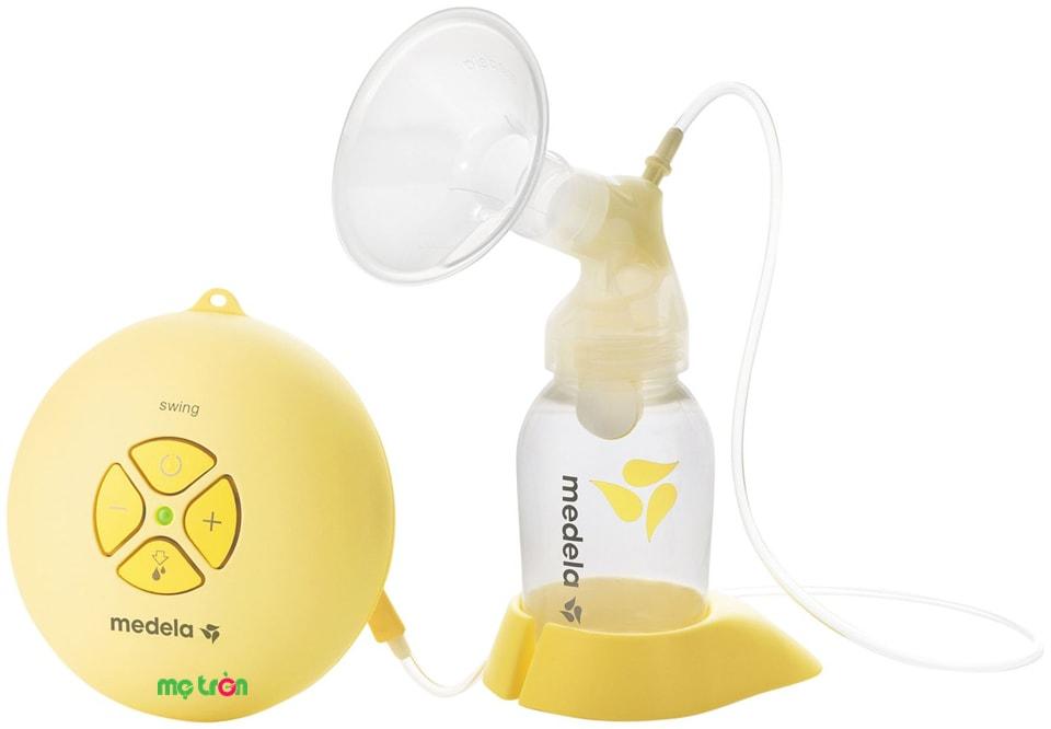 Máy hút sữa bằng điện Medela Swing của Thụy Sĩ được sản xuất từ chất liệu đảm bảo an toàn tuyệt đối cho sức khỏe của mẹ và bé. Thiết kế theo chu kỳ hoạt động tự nhiên giống như chu kỳ hút sữa của bé để mang đến cảm giác thoải mái và dễ chịu cho mẹ.