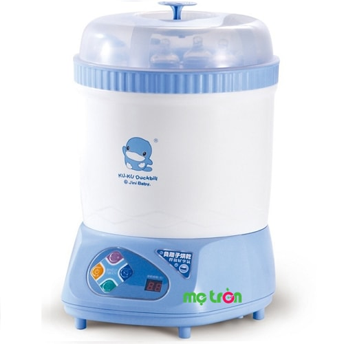<p>Máy tiệt trùng và sấy khô bình sữa Kuku Ku9019 Đài Loan Với thiết kế đặc biệt và độc đáo sản phẩm có thể cùng lúc tiệt trùng đến 8 bình sữa ngoài ra nó còn kiêm luôn chức năng sấy khô nên rất tiện dụng cho mẹ</p>