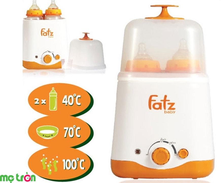 Máy hâm sữa Fatzbaby siêu tốc đa năng FB3012SL 2 bình cổ rộng thế hệ mới