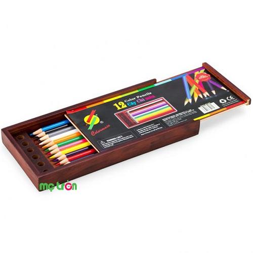 <p>- Hộp gỗ bút chì màu thường 12 cây Colormate làm từ chất liệu cao cấp an toàn, không độc hại cho bé. - Thiết kế đáng yêu, màu sắc chân thật. - Giúp bé phát triển năng khiếu toàn diện.</p>