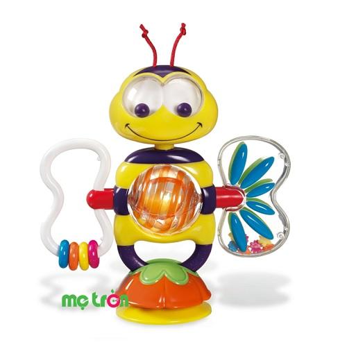 Xúc xắc hình ong Munchkin MK10505 cho bé giúp bé phát triển hoàn thiện các phản xạ của tai, mắt. Với đồ chơi này, bé có thể vặn giây cót cho cánh ong quay và tạo âm thanh vui tai. Thông qua việc tiếp xúc, cầm nắm cũng như nghe những âm thanh này, sẽ giúp bé phát triển thị giác, thính giác, kỹ năng vận động hữu ích. Bạn có thể hoàn toàn yên tâm bảo vệ bé nhờ chất liệu an toàn của sản phẩm.