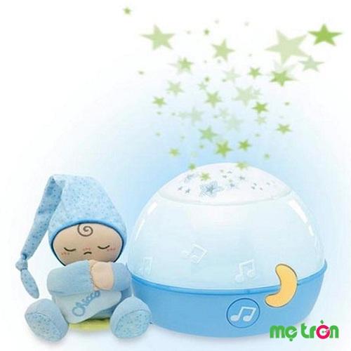 Đèn chiếu phát nhạc ru bé ngủ ngon Chicco Sao xanh 24272 là sản phẩm lý tưởng giúp bé ngủ ngon hơn. Với tính năng tiện lợi là vừa chiếu đèn vừa phát nhạc cho bé đi vào giấc ngủ nhanh hơn.
