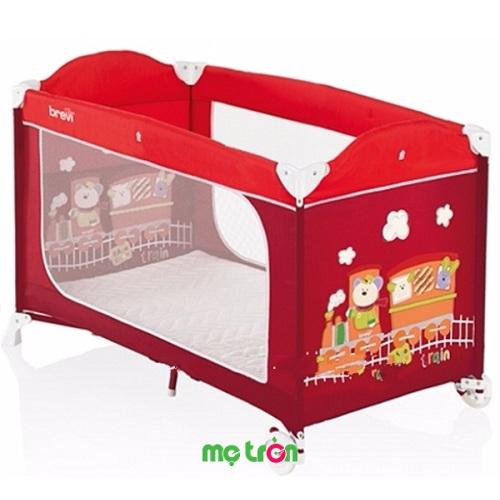Nôi ngủ du lịch Brevi Dolce Nanna Plus BRE811-349 màu đỏ xinh xắn