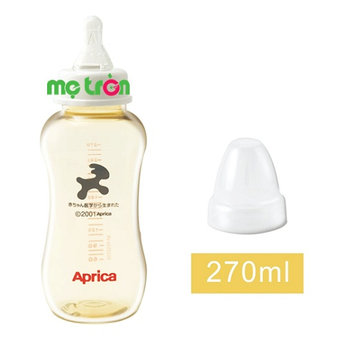 Bình sữa Aprica cổ rộng 270ml không chất độc hại được làm từ chất liệu nhựa PES cao cấp, hoàn toàn không chứa BPA gây hại cho sức khỏe. Núm ty được làm từ chất liệu silicone y tế có độ đàn hồi tốt. Bên cạnh đó, núm ty có lỗ thông khí giúp giảm thiểu sự đầy hơi, đau bụng ở trẻ.