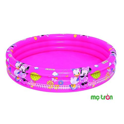 Bể phao bơi 3 tầng hình chuột Micky 91036 (152 x 30cm) là giải pháp hữu hiệu cho các bé thoái mái nô nghịch với nước tại nhà, sản phẩm giúp ba mẹ không phải tốn thời gian, tiền bạc, công sức để đưa bé đến khu vui chơi và bể bơi công cộng. Sản phẩm được làm từ chất liệu nhựa cao cấp, không chất độc hại nên bạn có thể hoàn toàn yên tâm khi sử dụng cho con mình.