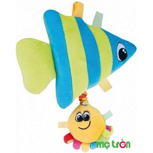 - Đồ chơi bông mềm hình cá có nhạc Canpol 68/014 được làm bằng chất liệu bông vải rất an toàn cho trẻ.  - Phát ra âm thanh vui nhộn thu hút sự chú ý của bé. - Có thể dùng để làm đồ chơi treo giường cũi, xe đẩy hay nôi.