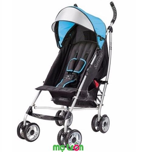 <p>Xe đẩy siêu nhẹ Summer 3D SM21650 màu xanh dương có mái che tiện dụng được sản xuất theo tiêu chuẩn Hoa Kỳ với khung nhôm siêu nhẹ, bền cùng mái che rộng và giở đựng đồ lớn thích hợp cho trẻ từ sơ sinh. Khi không sử dụng, xe có thể gấp gọn và mang vác trên vai một cách dễ dàng, thiết kế hiện đại, sang trọng chắc chắn sẽ chinh phục mọi gia đình khi chọn mua cho bé.</p>