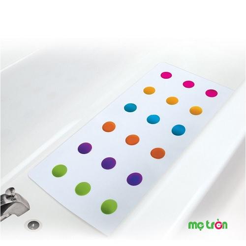 - Thảm chống trơn nhà tắm Munchkin MK15708 được làm từ chất liệu an toàn. - Bề mặt thảm giúp an toàn tuyệt đối cho bé khi tắm. - Có nhiều màu sắc tươi sáng giúp bé hứng khởi hơn khi tắm.