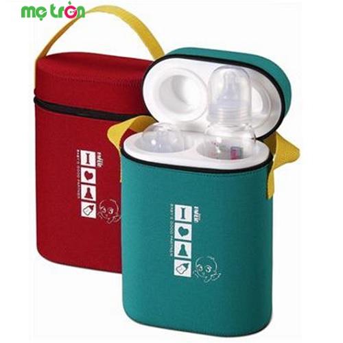 Ủ bình sữa 2 ngăn Farlin BF225 có thể giữ 2 bình sữa 1 lúc