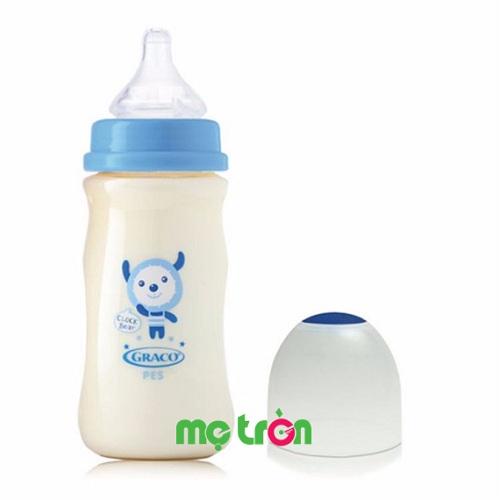 Bình sữa Graco PES 330ml an toàn tuyệt đối cho sức khỏe của bé (cổ rộng – GC38505) là sản phẩm chất lượng cao cấp của thương hiệu Graco – Mỹ. SẢn phẩm được làm từ chất liệu nhựa PES, không chứa BPA hay các thành phần hóa học gây hại khác cho sức khỏe của bé, đảm bảo bé được phát triển một cách tốt nhất.