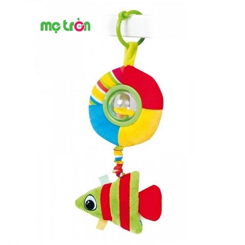 - Đồ chơi bông mềm có gắn xúc xắc Canpol 68/018 bằng vải mềm mại, rất an toàn cho bé. - Có xúc xắc phát ra âm thanh vui nhộn kích thích thính giác cho bé. - Dành cho trẻ từ 0 tháng tuổi trở lên.