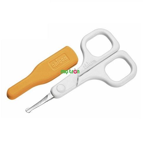 Kéo cắt móng tay Chicco màu trắng thiết kế thông minh