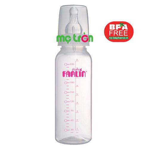 Bình sữa Farlin 240ml PP-767H1 có núm silicone mềm mại là sản phẩm chất lượng của thương hiệu Farlin. Bình được thiết kế dành cho trẻ từ 6 tháng tuổi trở lên. Chất liệu PP hoàn toàn không chứa BPA gây hại cho sức khỏe của bé và núm ty mềm mại, có van chống sặc tiện lợi giúp bé bú bình dễ dàng hơn.