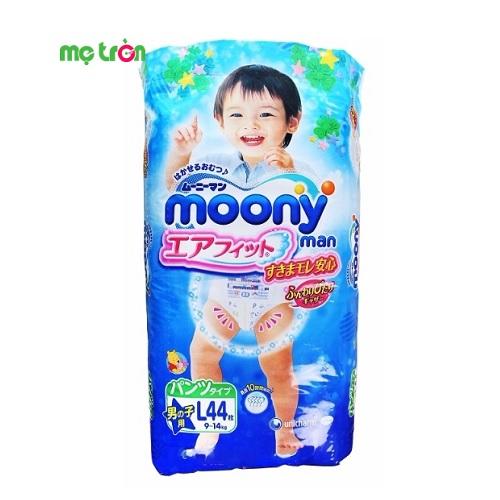 Tã quần Moony L Boy từ Nhật Bản (L44) dành cho bé trai