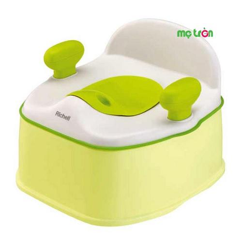 Bệ ngồi toilet cho trẻ có tay vịn Richell RC98464 màu xanh lá hoặc hồng