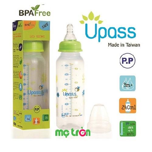 Bình sữa Upass cổ xanh lá không BPA 240ml U06801CL là sản phẩm chất lượng của thương hiệu Upass. Với chất liệu và kiểu dàng hoàn hảo, đảm bảo an toàn tuyệt đối cho sức khỏe của bé. Chắc chắn sản phẩm này sẽ đáp ứng hết những yêu cầu khắt khe của mẹ về sản phẩm bình sữa.