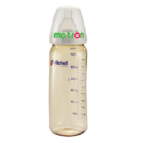 Bình sữa nhựa PPSU 320ml Richell giúp bé phát triển tốt hơn được làm từ chất liệu nhựa PPSU cao cấp hoàn toàn không chứa BPA gây hại cho sức khỏe của bé. Bên cạnh đó, bình được thiết kế nhỏ gọn nhẹ, thân bình thon gọn, trơn nhẵn giúp bé cầm bình dễ dàng.