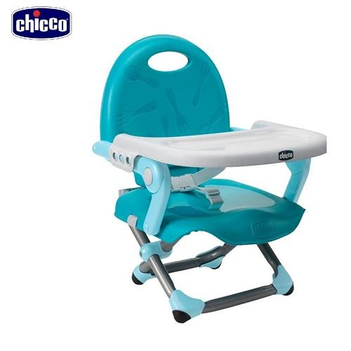 Ghế ăn điều chỉnh độ cao màu xanh biển Chicco Pocket