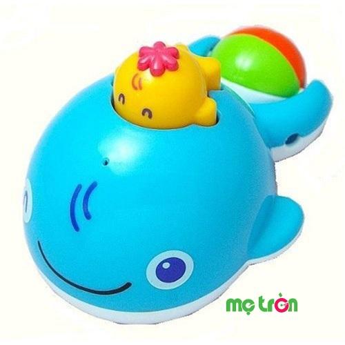 - Đồ chơi tắm cá voi màu xanh Toyroyal được làm từ chất liệu nhựa an toàn cao cấp. - Hoàn toàn không chứa chất độc hại. - Cho bé vui vẻ hơn trong lúc tắm.