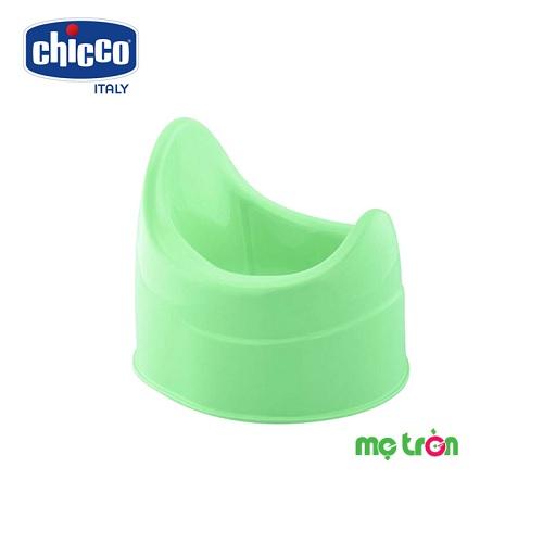 Bô vệ sinh có lưng tựa Chicco 3 màu xanh lá, xanh blue, hồng