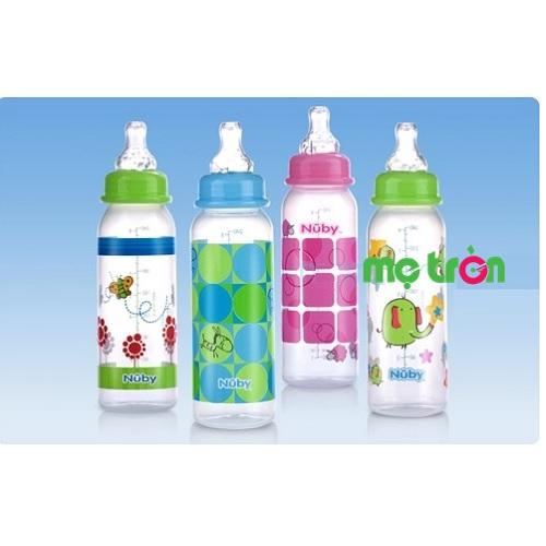 Bình sữa chống sặc cổ hẹp Nuby 250ml Non-Drip là dòng sản phẩm chất lượng cao cấp của thương hiệu Nuby. Bình sữa được làm từ chất liệu nhựa PP cao cấp, hoàn toàn không chứa BPA gây hại cho sức khỏe của bé. Bên cạnh đó, núm ty được thiết kế vô cùng an toàn và độc đáo với các nốt sần giúp massage và kích thích trẻ bú tốt hơn.