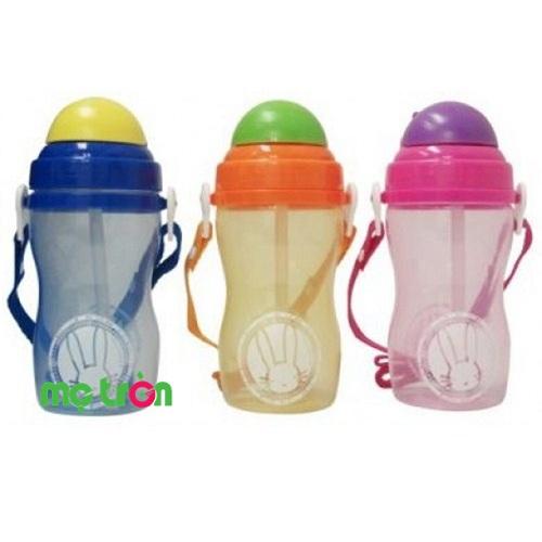 Bình uống nước có ống hút Lucky Baby 595039 đáng yêu cho bé