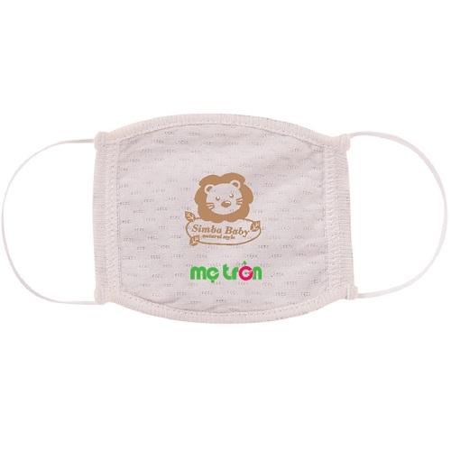Khẩu trang bông hữu cơ Organic Simba 2 kích cỡ nhỏ và lớn cho bé