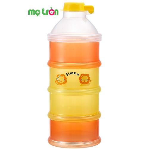 <p>- Hộp chia sữa 4 tầng Simba được làm từ chất liệu nhựa PP cao cấp.</p> <p>- Màu sắc tươi sáng, thời trang.</p> <p>- Có thể chia làm 4 phần sữa cho mỗi lần ăn của bé</p>