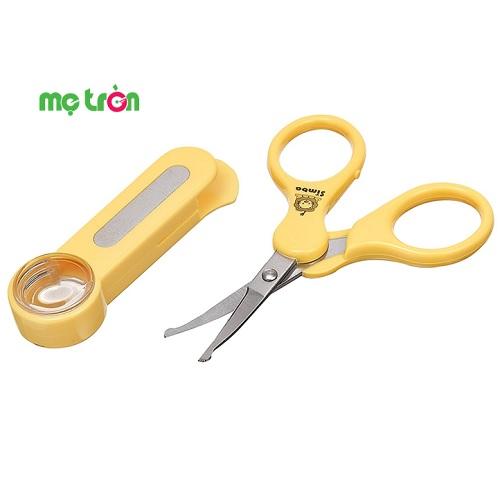 Kéo cắt móng tay kèm kính lúp an toàn cho bé Simba S1738