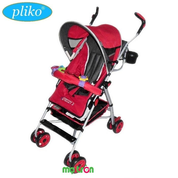 <p>Xe đẩy dù Pliko PK-108NR Adventure với khung thép nhẹ và chắc chắn, lớp vải đệm êm ái thoáng mát, có thể thấm hút mồ hôi không gây hăm bí cho bé dù có ngồi lâu được sử dụng cho trẻ sơ sinh đến 3 tuổi. Xe đẩy siêu nhẹ Pliko Adventure có 2 chế độ ngã lưng dùng để ngồi và ngủ, bánh trước xoay và khóa an toàn, dễ dàng gấp lại để mang đi hay cất giữ.</p>
