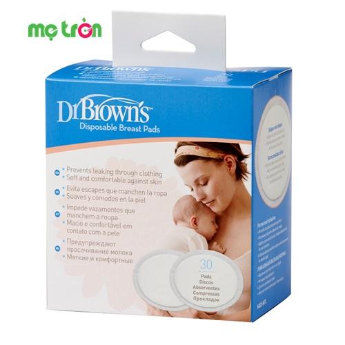 Miếng lót thấm sữa siêu thấm dùng 1 lần Dr Brown's (30 miếng)