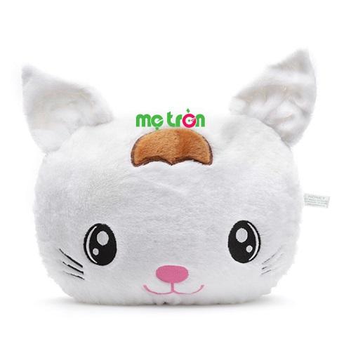 <p>Gối được thiết kế với kiểu dáng đáng yêu, chiếc gối kể chuyện hình mèo trắng sẽ là người bạn nhỏ cùng bé mơ những giấc mơ cổ tích. Sản phẩm được làm bằng chất liệu vải bông cao cấp, mềm mịn nên rất an toàn với bé, bông được cấu trúc theo dạng vón bi, tạo độ bồng tốt, lâu xẹp.</p>