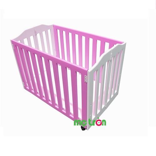 Cũi trẻ em Le Lumber Folding Crib BC 10 phủ sơn PU 2K